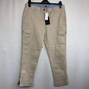 NWT Brooks Brothers 1818 Beige Cargo Capri Pants